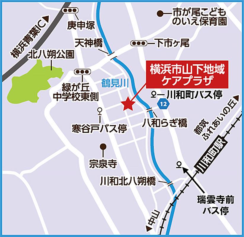 施設案内の簡易地図